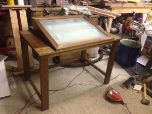 Backlit Drawing Desk